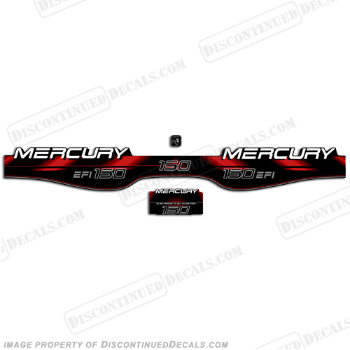 Mercury 150hp EFI Decals - 1998 - 1999