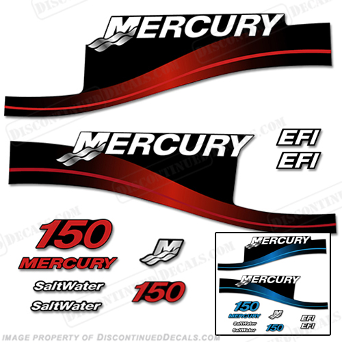 Mercury 150hp EFI Decal Kit 1999 - 2004