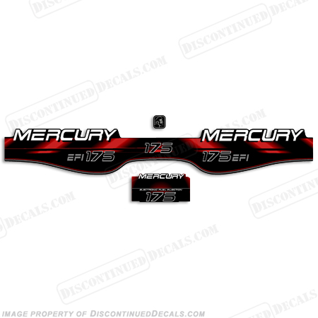 Mercury 175hp EFI Decals - 1998 - 1999