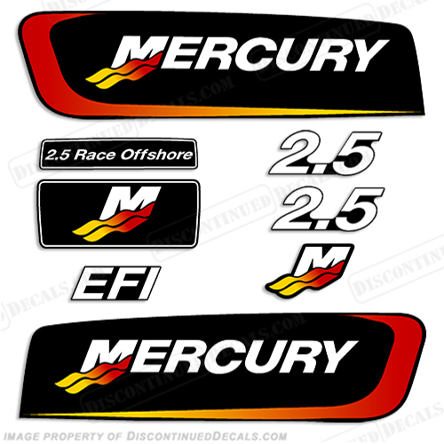 Mercury 2.5L EFI Alien Cowl Engine Decals