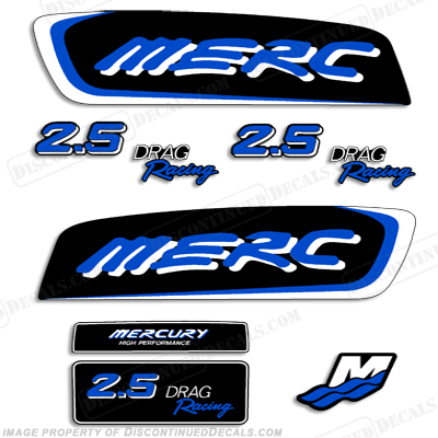 Mercury 2.5 Liter EFI Racing Decal Kit - Custom Blue