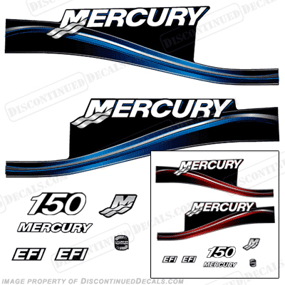 Mercury 150hp EFI Decal Kit -  2005 Style