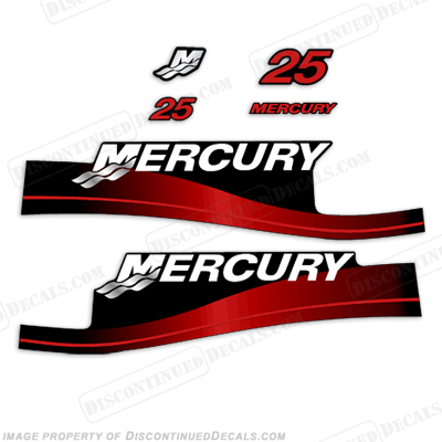 Mercury-25hp-Outboard-Decal-Kit-Blue-or-Red-