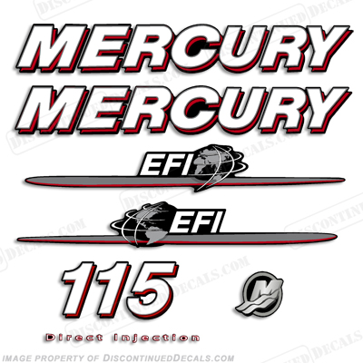"Mercury 115hp ""EFI"" Decals - 2007-2012"