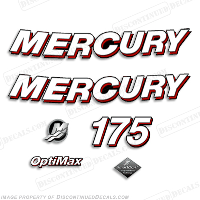 "Mercury 175hp ""Optimax"" Decals - 2006"