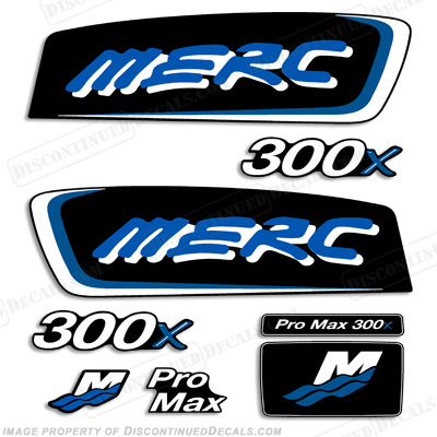 Mercury 300x ProMax Decals - Blue/Purple