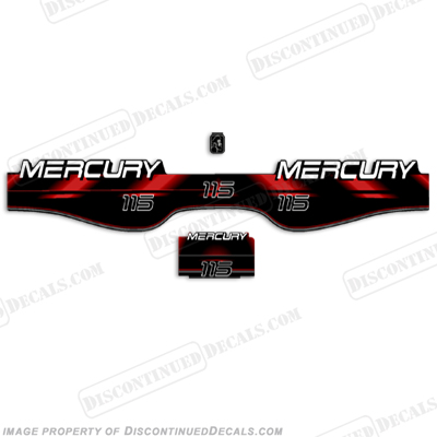 Mercury 115hp Decal Kit - Older Style