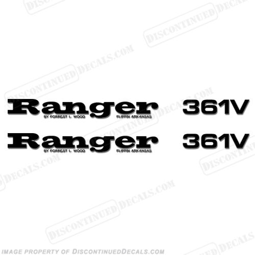 Ranger 361V Decals (Set of 2) - Any Color!