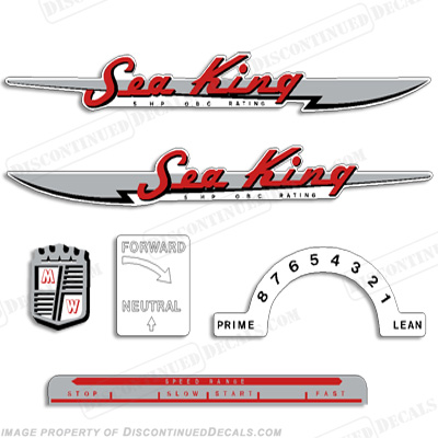 Sea King 1950-1953 3-5HP Decals by Chrysler