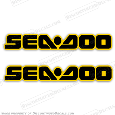 SeaDoo Decals - Black/Yellow - Set of 2