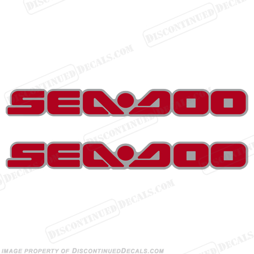 SeaDoo Decals fits 2005 RXT - Red/Silver