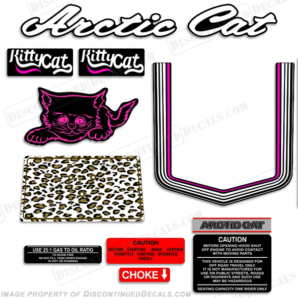 "Arctic Cat ""Kitty Cat"" Decals 1976 - 1979"