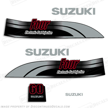 Suzuki DF 60 Decal Kit - 1998-2002