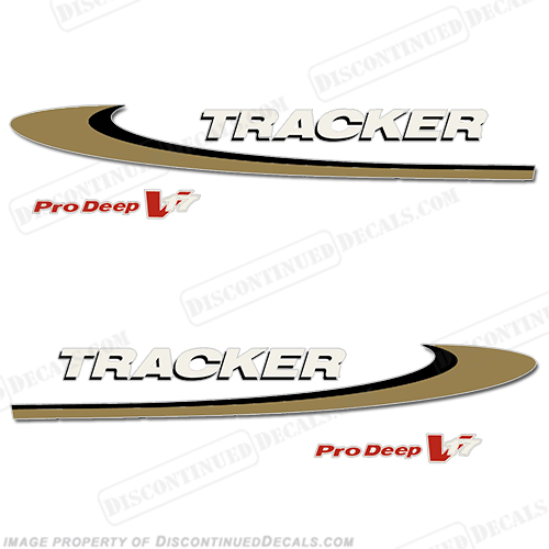 Tracker Marine Pro Deep V17 Decals - 2002