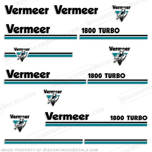 Vermeer 1800 Turbo Chipper Decals