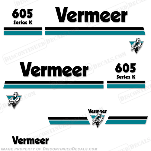 Vermeer 605 Series K Baler Decal Kit