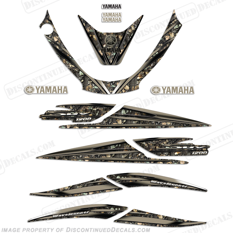 Yamaha 2000 1200 SUV Camoflauge Decal Kit