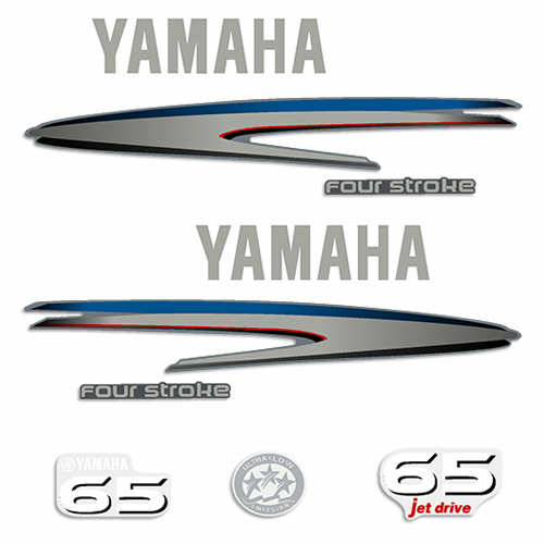 Yamaha 65hp 4-Stroke Jet Drive Decals