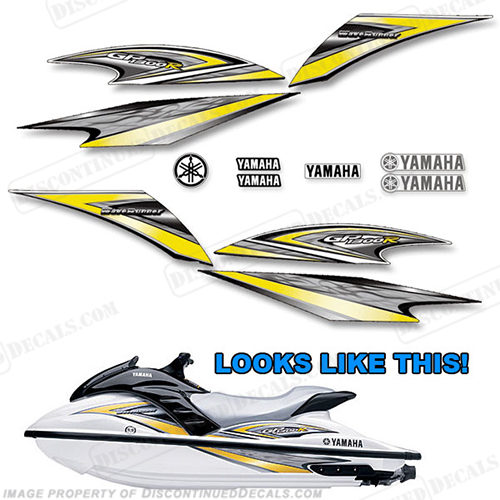 Yamaha 2005 GP1300R PWC Decals