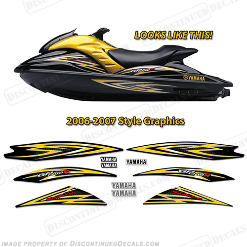 Yamaha 2006-2007 GP1300R PWC Decals