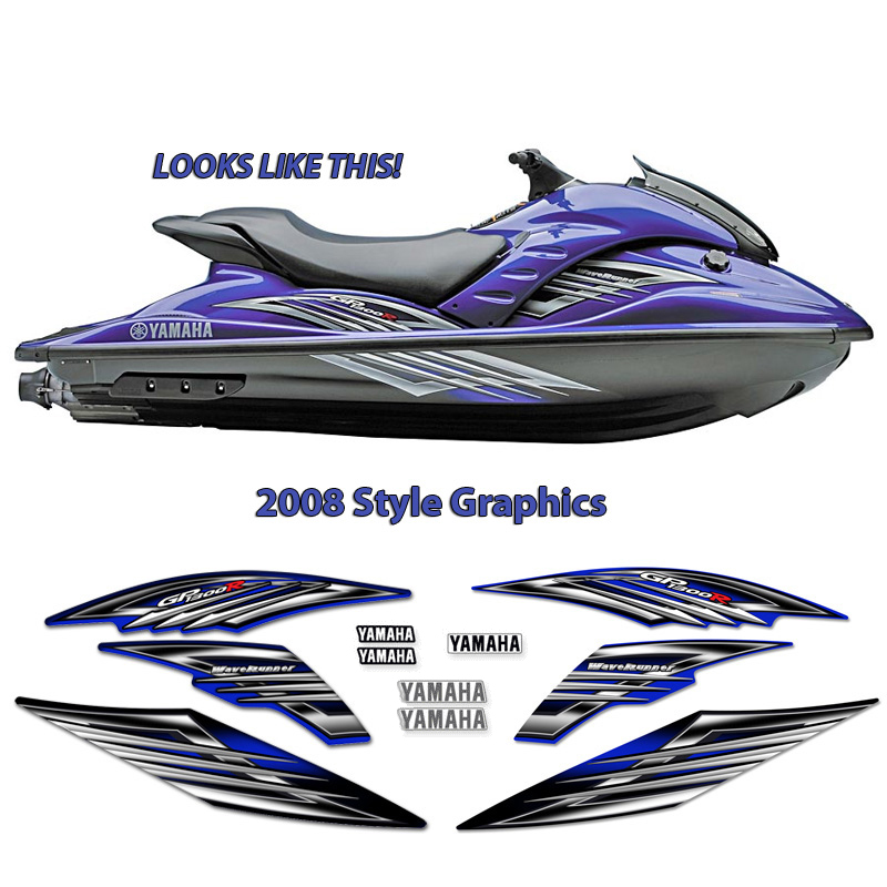 Yamaha 2008 GP1300R PWC Decals