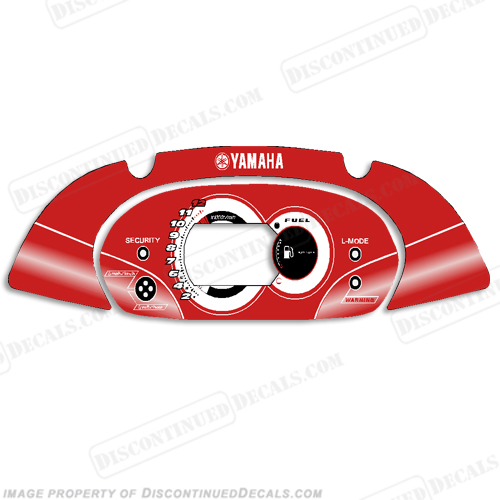 Yamaha FX HO PWC Speedometer Cover - Red