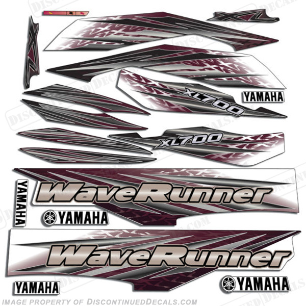 Yamaha 2001 XL 700 PWC Decals